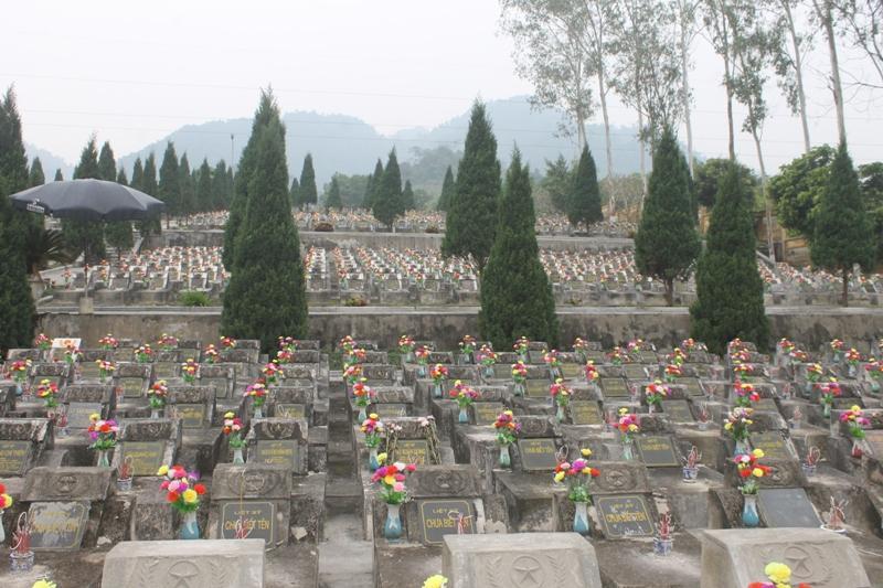 Nhiều liệt sĩ chưa xác định được tên tuổi, quê quán tại Nghĩa trang Vị Xuyên