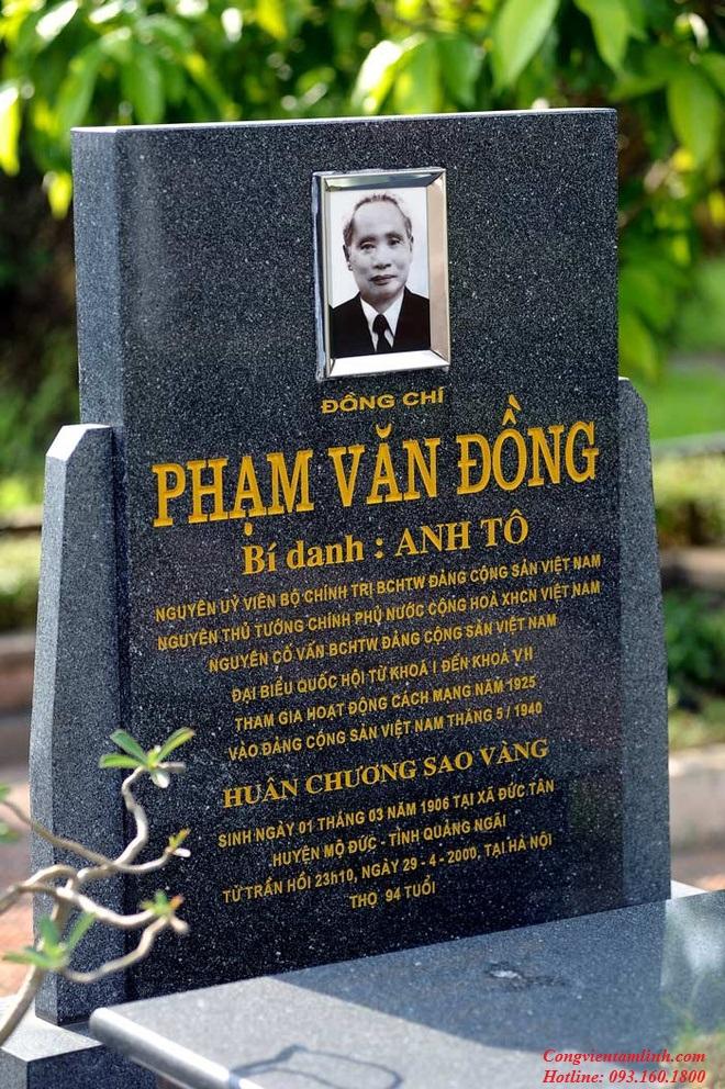 Phần mộ đồng chí Phạm Văn Đồng