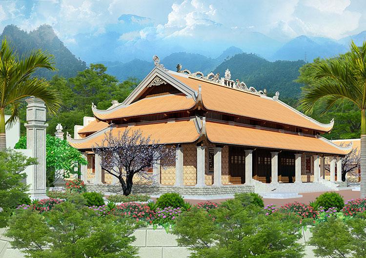 hình ảnh mô phỏng 3D đền thờ mẫu
