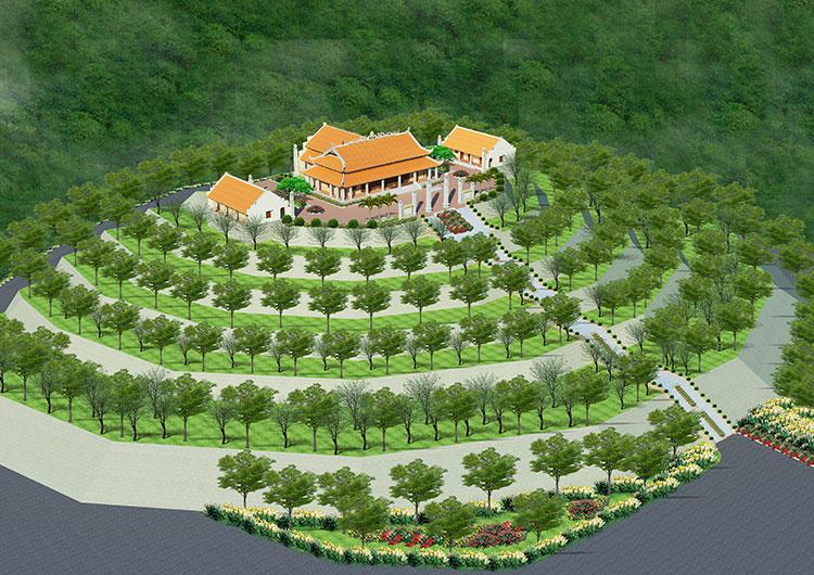hình ảnh mô phỏng 3d đền thờ mẫu tại đồi tưởng niệm