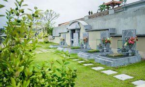 Mẫu mộ gia đình lớn lạc hồng viên