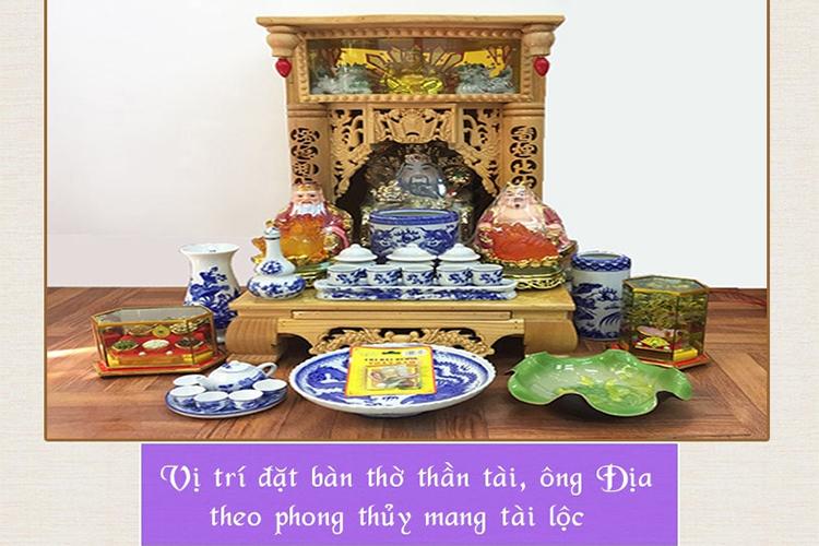 Vị trí đặt bàn thờ thần tài ông địa giúp thu hút tài lộc