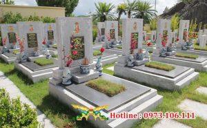Tổng hợp mẫu mộ đơn đẹp nhất tại nghĩa trang Hòa Bình