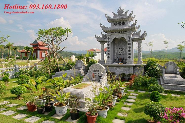 Khuôn viên mộ phần diện tích 150m2 tại Lạc Hồng Viên