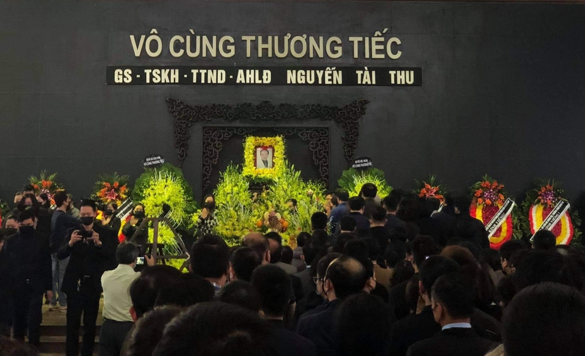 Tổ chức tang lễ giáo sư Nguyễn Tài Thu