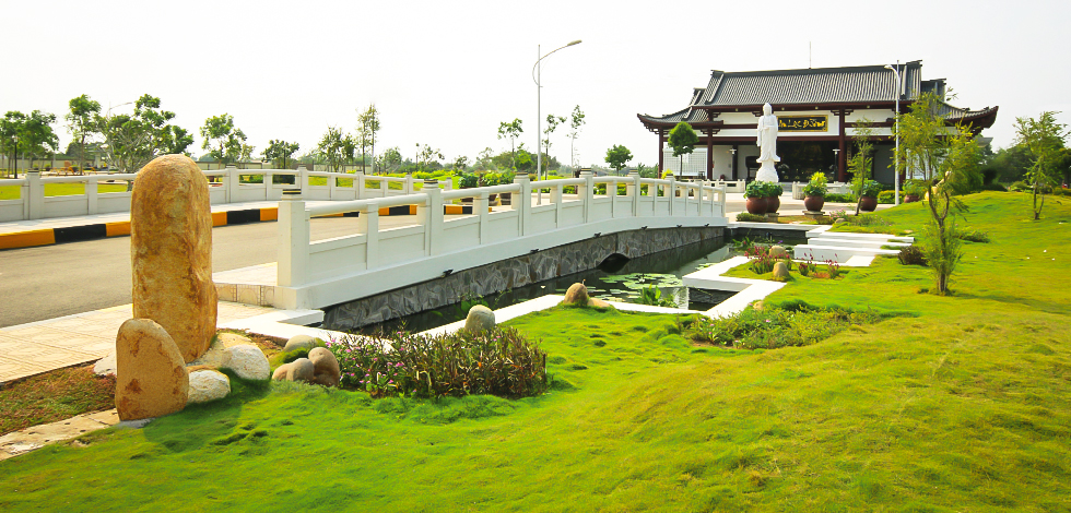 Vị trí Công viên nghĩa trang Sài Gòn Thiên Phúc nằm gần quốc lộ 50