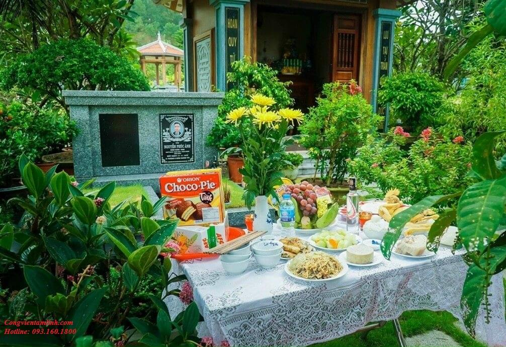 Mâm lễ cúng giỗ online tại nghĩa trang Lạc Hồng Viên