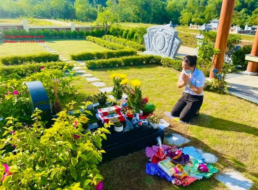 Dịch vụ cúng lễ Tạ Mộ online tại khuôn viên đồi Kim nghĩa trang Lạc Hồng Viên